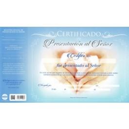 Certificado de presentación - Niño (pack de 20)