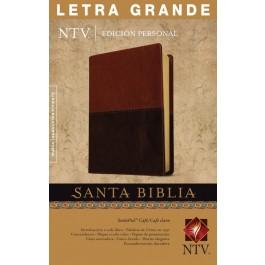 Biblia edición personal. Letra grande. 2 tonos. Marrón - NTV