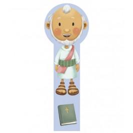 Marcador en 3D para niños Abraham (bilingüe)
