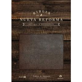 Biblia de estudio Nueva Reforma. Piel especial. Marrón - NVI
