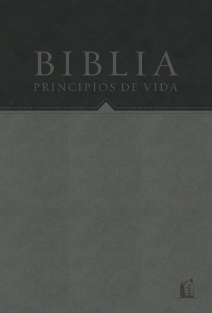 Biblia principios de vida. 2 tonos. Negro/gris - RVR60