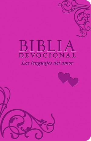 Biblia devocional los lenguajes del amor. 2 tonos. Rosa - NTV