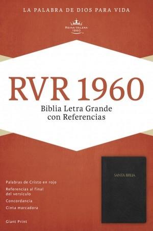 RVR 1960 Biblia Letra Grande con Referencias, negro imitación piel con índice