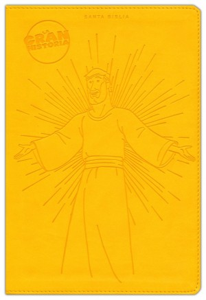 NTV La Gran Historia: Biblia Interactiva, símil piel amarillo