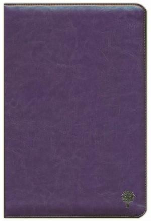 Biblia grande. Letra grande. Imitación piel. Morado. Cremallera - RVR60