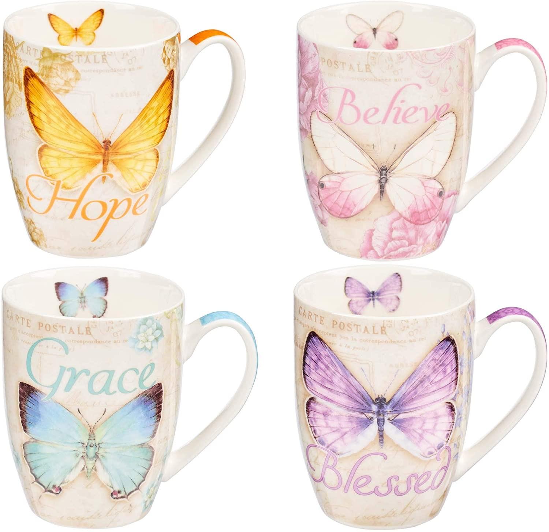 Juego de tazas Butterfly blessings (pack de 4) (inglés)
