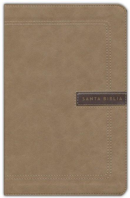 Biblia compacta. Letra grande. 2 tonos. Beige - NBLA