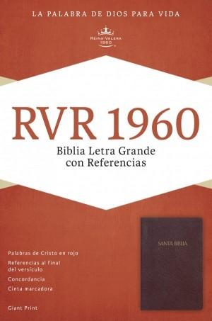RVR 1960 Biblia Letra Grande con Referencias, borgoña imitación piel