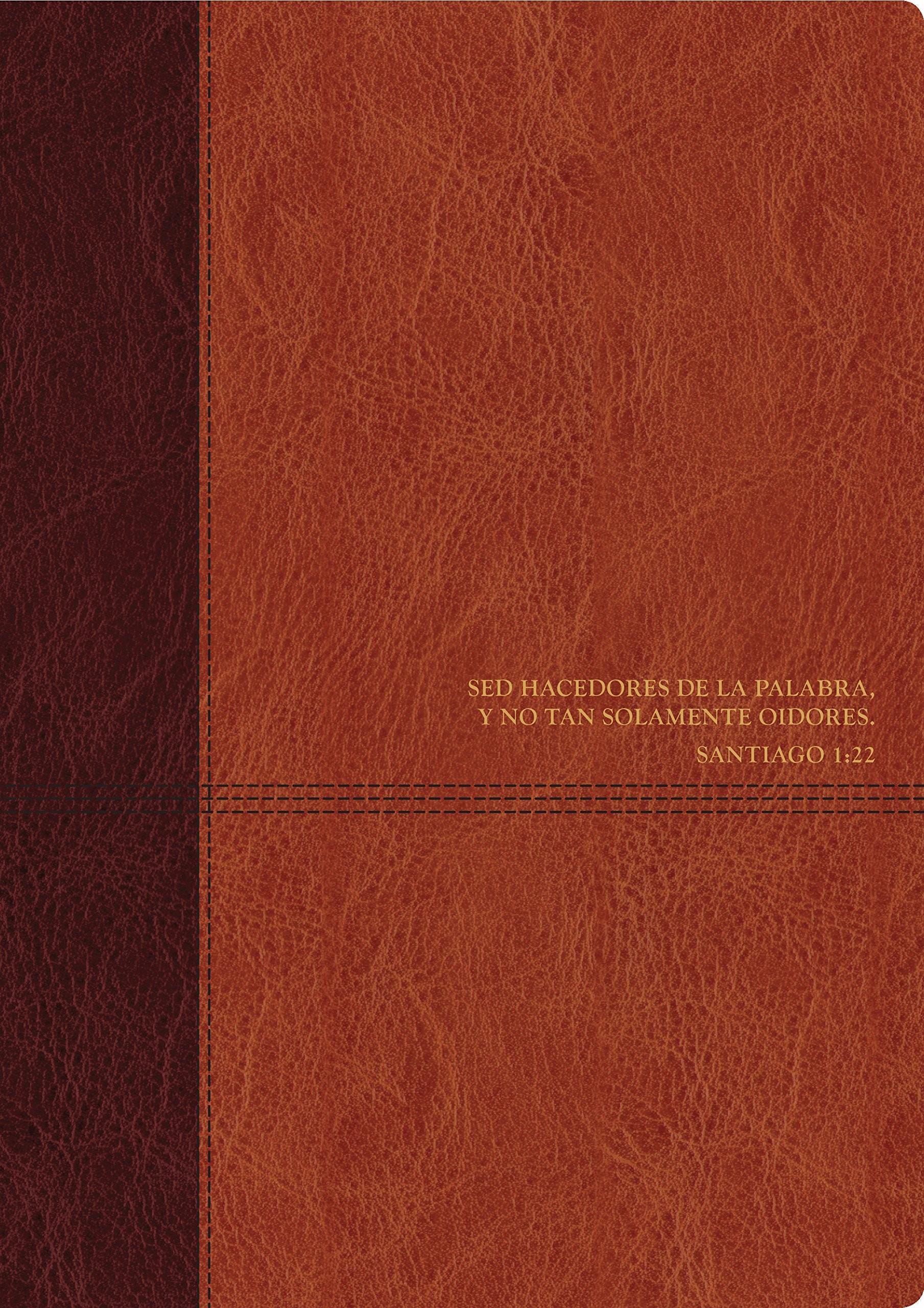 Biblia de estudio del diario vivir. 2 tonos. Marrón - RVR60