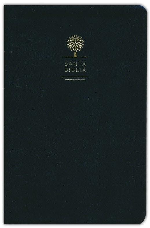 Biblia manual. Letra grande. Imitación piel. Negro - RVR60