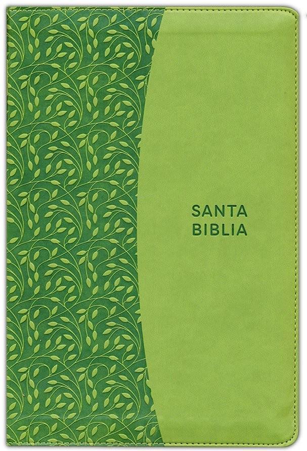 Biblia grande. Letra grande. 2 tonos. Verde. Cremallera - RVR60