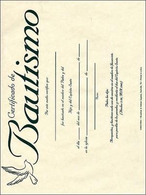 Certificado - Bautismo