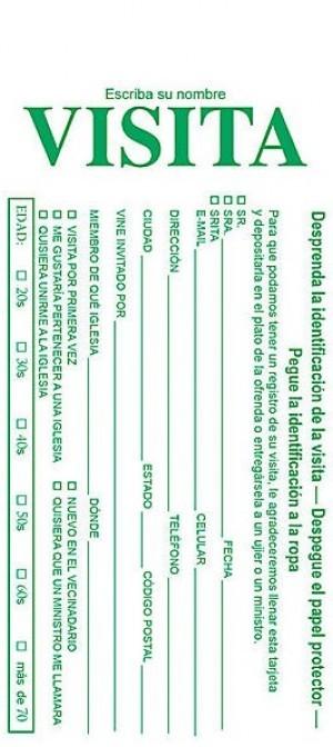 Tarjeta - Visita con etiqueta identificativa (pack de 100)