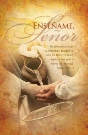Boletín - Enséñame, Señor. Salmo 143:10 (pack de 100)