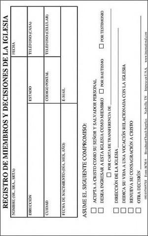 Registro de miembros y decisiones