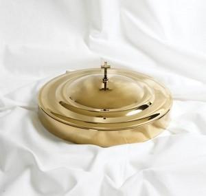 Tapa bandeja de vasos dorada - Santa Cena