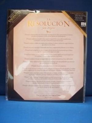 Resolución para mujeres, La - Certificado