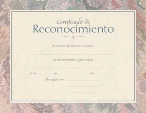 Certificado - Apreciación (pack de 6)