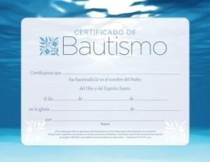 Certificado - Bautismo (pack de 6)