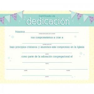 Certificado - Dedicación (pack de 6)