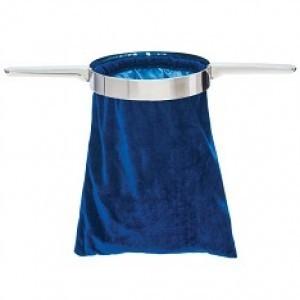 Bolsa para ofrenda con doble mango de metal. Azul