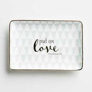Platito para joyas Put on love. Cerámica