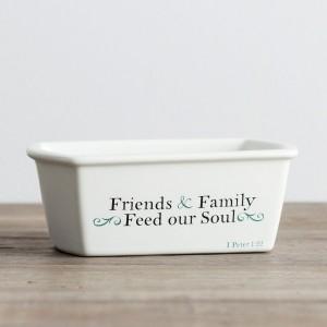 Panera individual Friends & family. Cerámica. Blanco