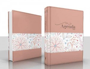 Agenda Deluxe 2021. 2 tonos. Rosa jardín