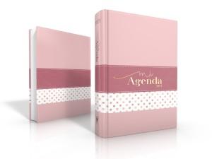 Agenda Deluxe 2021. 2 tonos. Rosa puntos