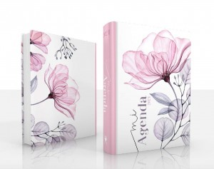 Agenda Eco 2021. Tapa dura. Flor rosa