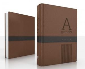 Agenda Deluxe 2021. 2 tonos. Marrón/negro
