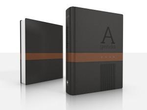 Agenda Deluxe 2021. 2 tonos. Negro/marrón