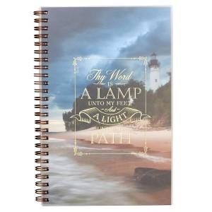 Cuaderno Salmo 119:105. PVC. Paisaje. Anillado