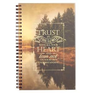 Cuaderno Proverbios 3:5. PVC. Paisaje. Anillado