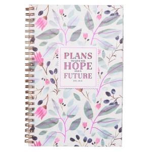 Cuaderno Jeremías 29:11. PVC. Flores. Anillado