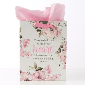 Bolsa de regalo Proverbios 3:5. Papel floral