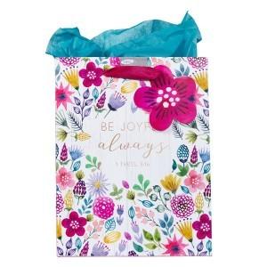 Bolsa de regalo 1 Tedalonicenses 5:16. Papel floral
