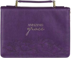 Funda para Biblia Amazing Grace. 2 tonos. Violeta - L