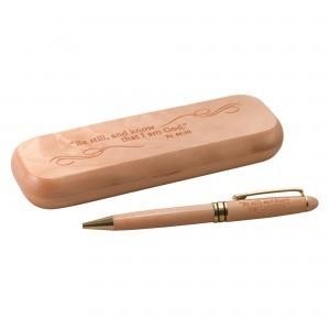 Bolígrafo de madera de arce Salmo 46:10