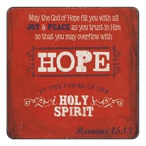 Imán de madera Romanos 15:13