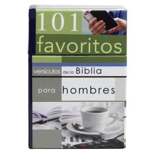 101 versículos favoritos de la Biblia para hombres (101 tarjetas)
