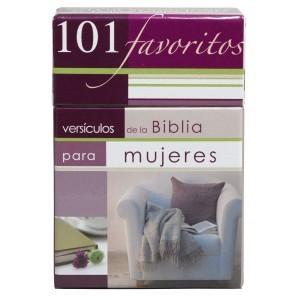 101 versículos favoritos de la Biblia para mujeres (101 tarjetas)