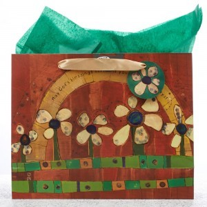 Bolsa de regalo May God´s blessings surround. Papel