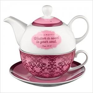 Juego taza y tetera para uno Proverbios 24:14