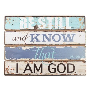 Placa de madera Salmo 46:10
