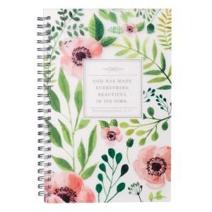 Cuaderno Eclesiastés 3:11. PVC. Flores. Anillado