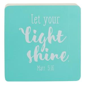 Bloque decorativo de madera Mateo 5:16