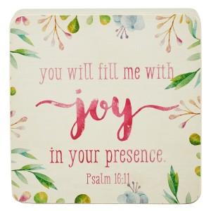 Bloque decorativo de madera Salmo 16:11