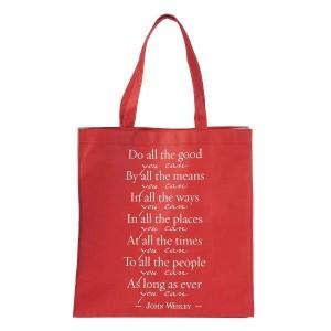 Bolsa Do all the good you can. Polipropileno. Rojo