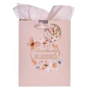Bolsa de regalo Abundantly blessed. Papel floral